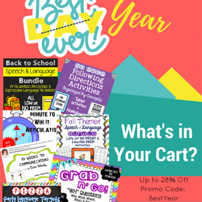 """What's in Your Cart?"" Linky for TpT's Back to School Sale 2016"