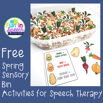 Free Spring Sensory Bin Activities for Speech Therapy
