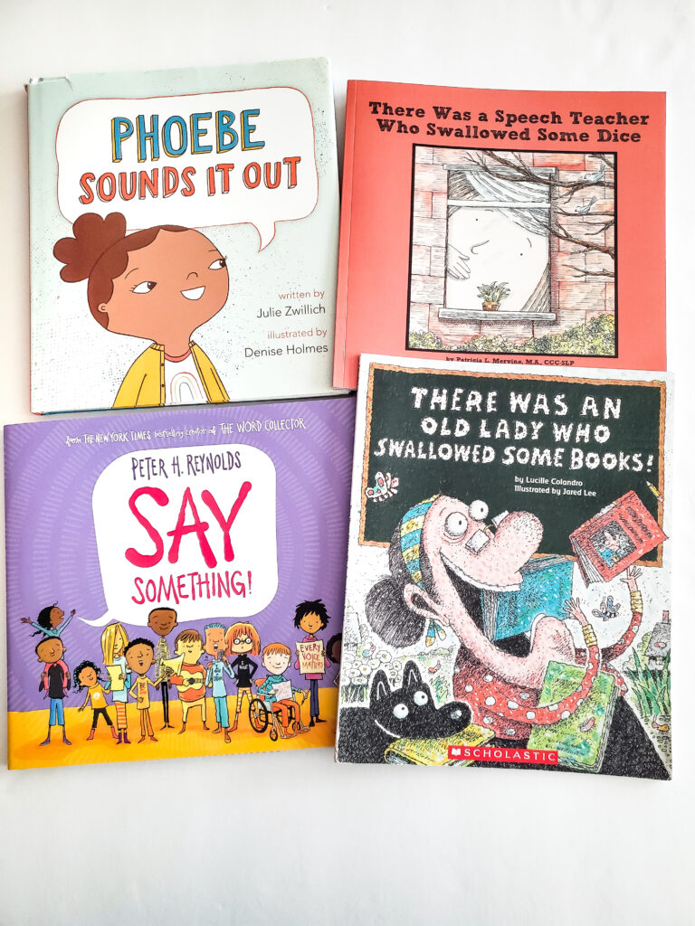 Back-to-school books for speech therapy