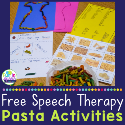 Free Speech Therapy Activities for People Who Love Pasta